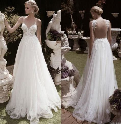 Amzing Spring Backless Sheer Lace Wedding Dresses