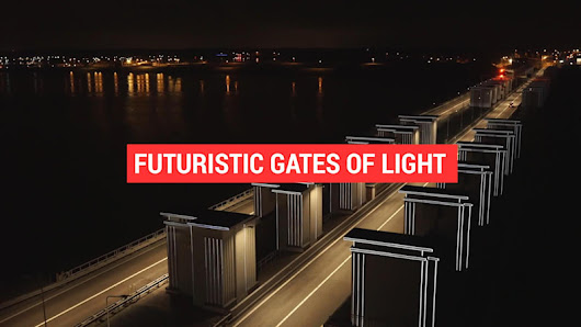 'Gates of Light' illuminate levee for drivers in the Netherlands - Autoblog