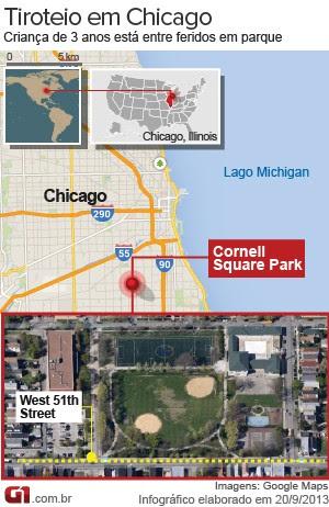 mapa tiroteio chicago (Foto: 1)