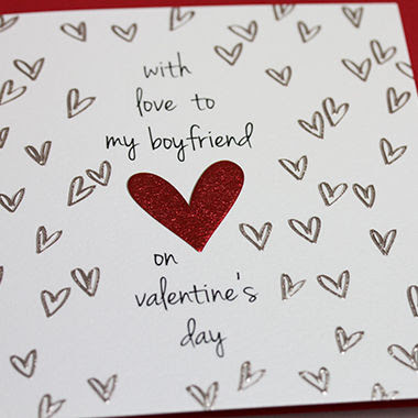 With Love To My Boyfriend Valentines Day Card Karenza Paperie