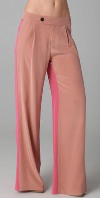 10 Crosby by Derek Lam Wide Leg Colorblock Trousers
