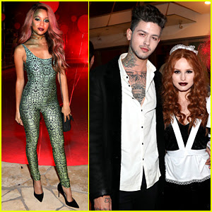 Madelaine Petsch & Travis Mills Have a 'Rocky Horror' Halloween Date Night!