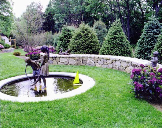 NJ Pond and Landscape | Stone Wall | Fountain