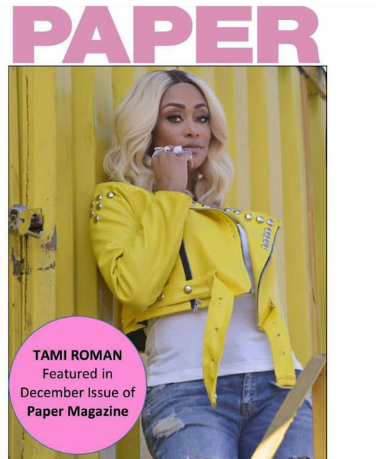 The Gossip Gurl — Tami Roman on the cover of Paper Magazine