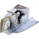 Anself Mini Handy Bill Cash Banknote Counter Money Currency Counting Machine AC or Battery Powered