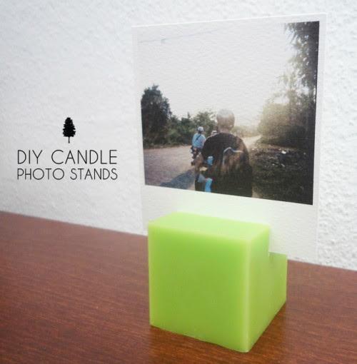 Original DIY Candle Photo Stands | Shelterness