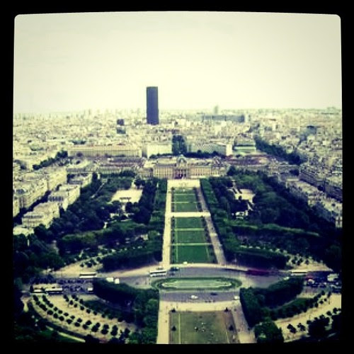 landscape, view Eiffel tower by Erixsson