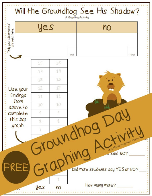 FREE Groundhog Day Graphing Activity