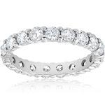 Pompeii 3 - Diamond Eternity Ring 2 Carat Womens Stackable Wedding Band 14K White Gold