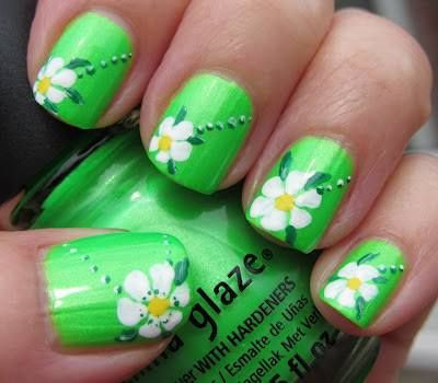 flores en verde