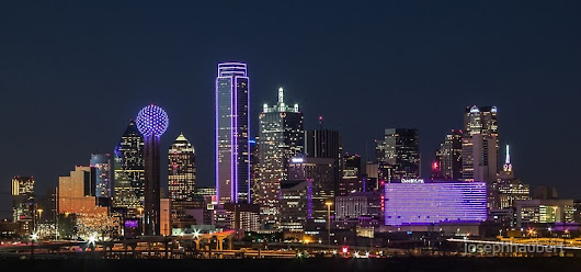 Dallas PURPLE Skyline by josephhaubert