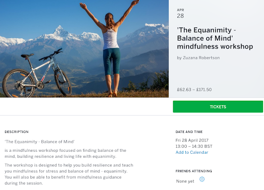'The Equanimity – Balance of Mind' Mindfulness workshop