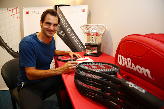 Roger Federer Honored by Wilson with Commemorative 18 Grand Slam Tennis Racket | tennis served fresh