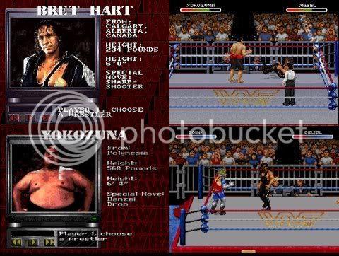 WWF RAW - Versões praticamente idênticas entre o Snes e o Genesis