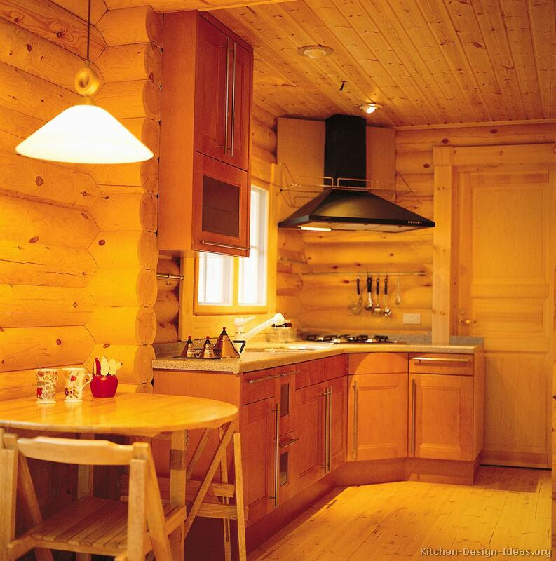 Log Home Kitchen Cabinets