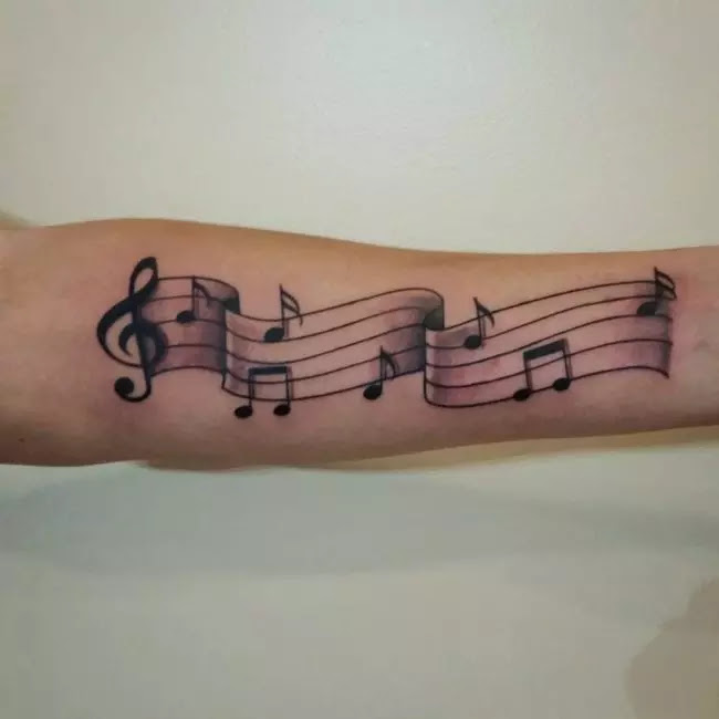 75 Lovely Music Note Tattoo Ideas For Those Who Is In Love With Music