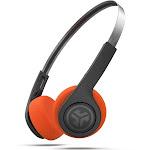 JLab Audio Rewind Retro Bluetooth Wireless On-Ear Headphones with Mic - Black