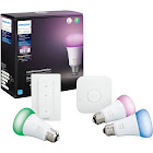 Philips Hue White and Color Ambiance LED Smart Bulb Starter Kit 3 Bulb Pack