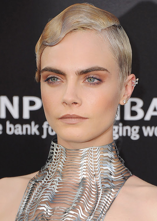 Cara Delevingne Seen in Silver and Gold at the Valerian Premiere