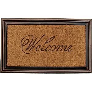 Amazon.com: Entryways Rubber and Coir Faux Wood Welcome Mat, 21 by