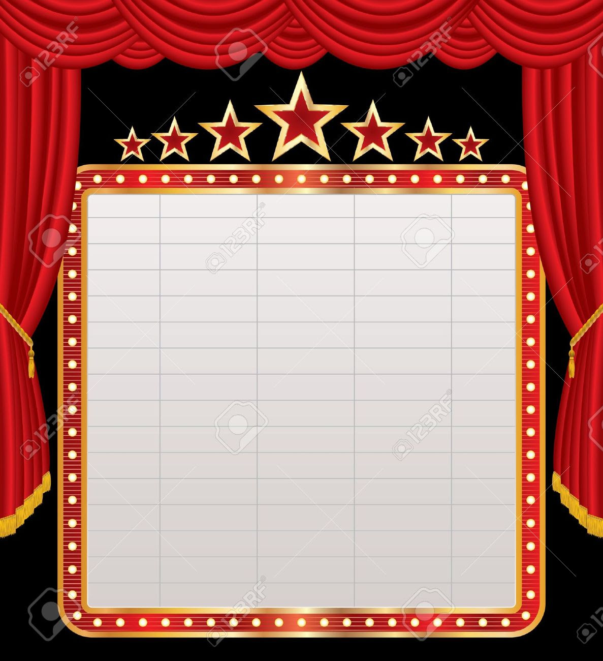 Vector Blank Billboard On Red Stage Royalty Free Cliparts, Vectors ...