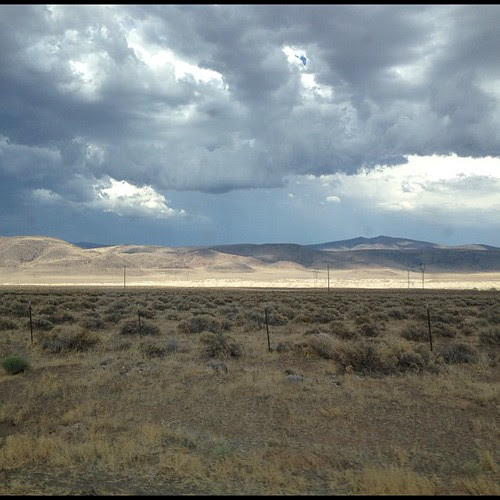 Clouds over the desert on NV-447