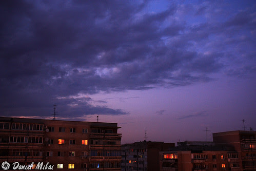 Twilight sky in Bucharest