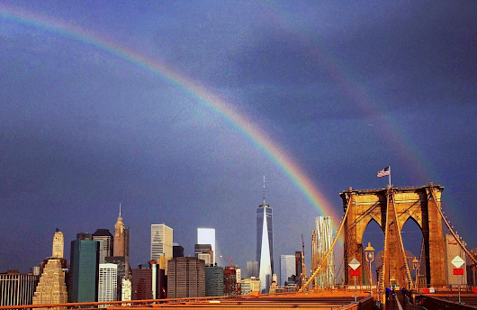 A Gorgeous Double Rainbow Appeared Above the Freedom Tower on the Eve of 9/11