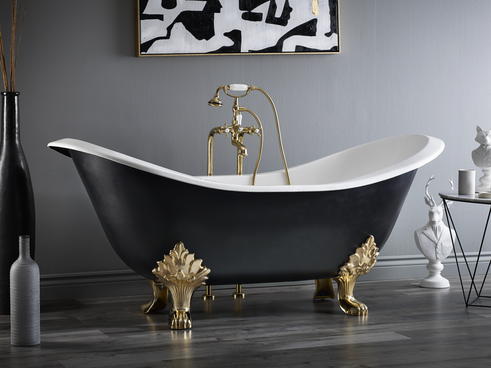 Regency Cast Iron Footed Bath With Lion Feet Cheviot Products