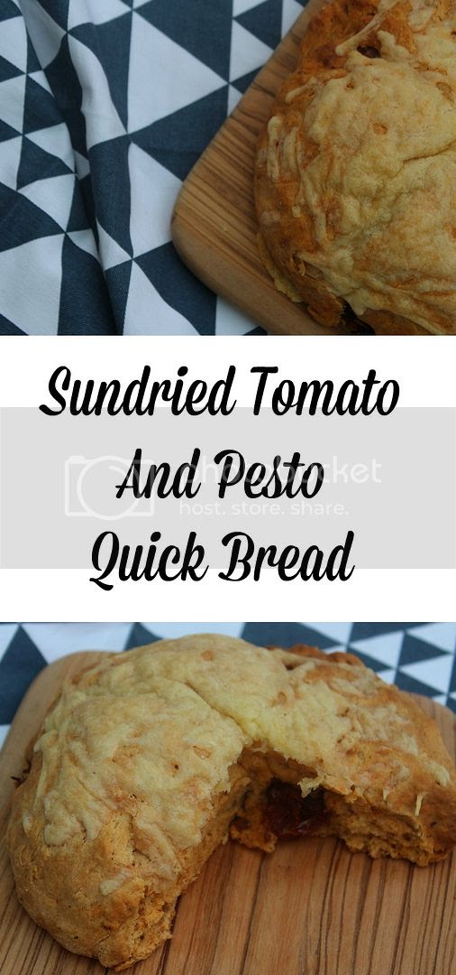 Sundried tomato and pesto quick bread recipe