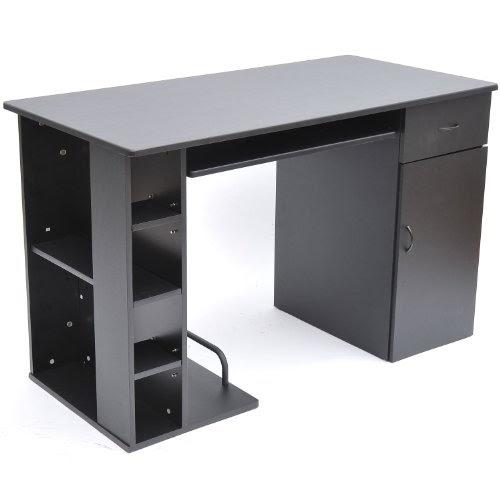 cheap homcom small home office dorm computer desk black special pomotions google groups. Black Bedroom Furniture Sets. Home Design Ideas
