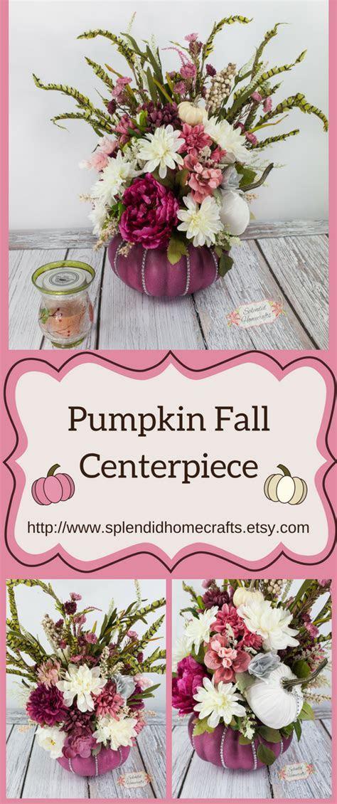 Pumpkin Centerpiece, Fall Centerpiece, Glam Pink Pumpkin