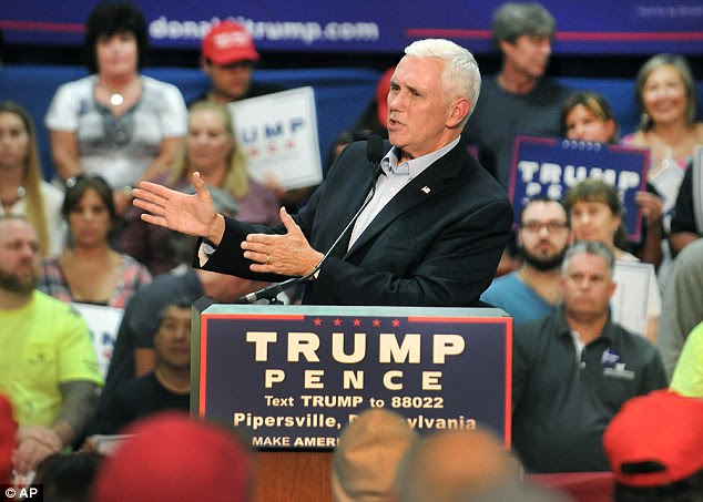 Republican vice presidential nominee Mike Pence has also called for the foundation to be 'immediately shut down'