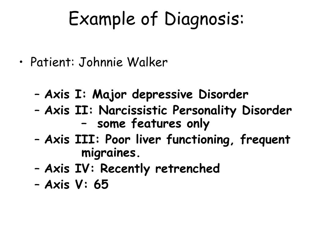PPT - Classification of mental disorders. PowerPoint ...