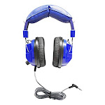 Hamiltonbuhl Kids Blue Deluxe Stereo Headphone With 3.5mm Plug & Volume Control