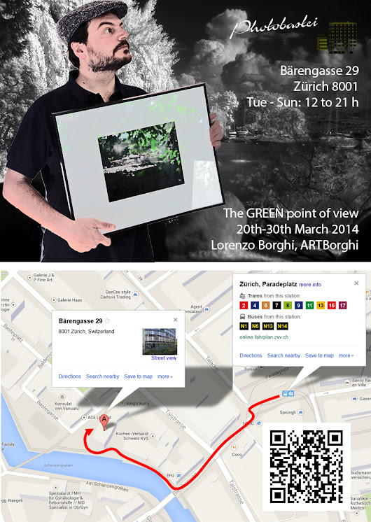 "ARTBorghi goes real with the photo exhibition ""The GREEN point of view"", Zurich downtown, 20th-30th March 2014"