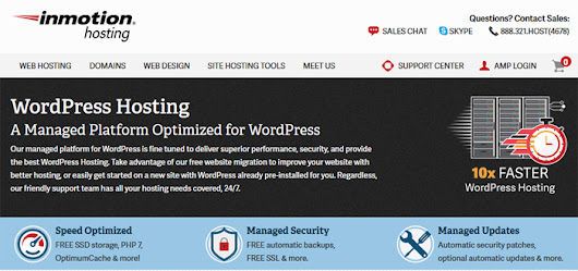 InMotion Hosting Managed WordPress Hosting Review | Web Hosting Cat