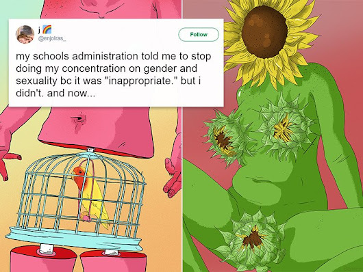 This Teen's Queer Art Was Deemed 'Inappropriate' by His School and His Clapback Was Perfect