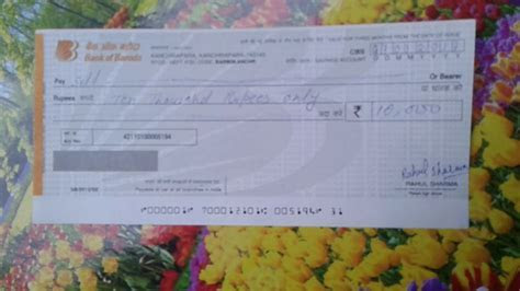 Bank Of Baroda Cheque FiLL Up   YouTube