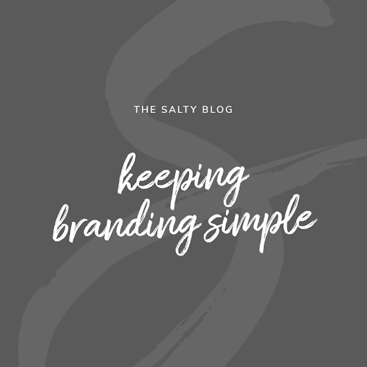 Keeping Branding Simple / Your Package Options