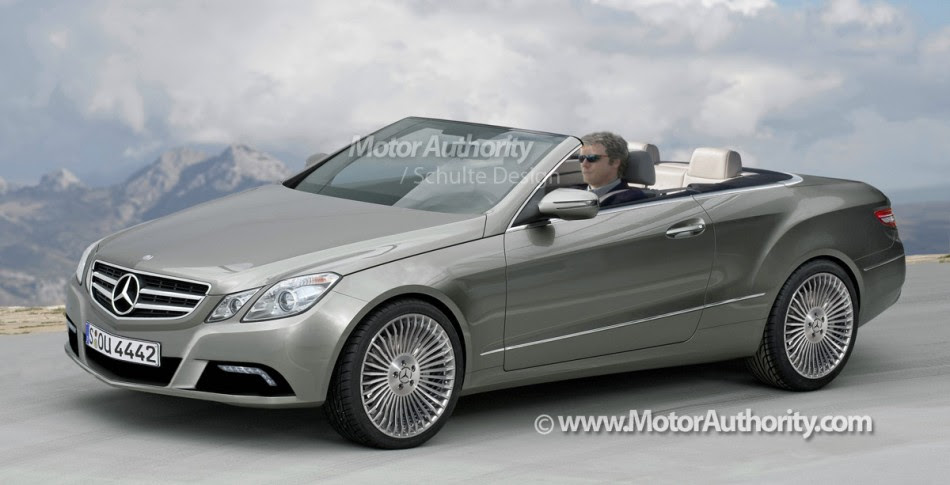 My First Blog  2011 Mercedes Benz E Class Cabrio Rendering