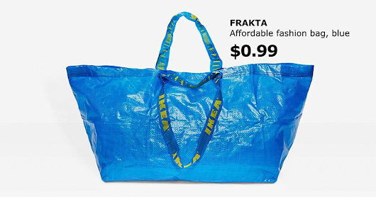 IKEA Responds To Balenciaga's $2,145 Bag Which Looks Exactly Like IKEA's 99-Cent Tote Bag