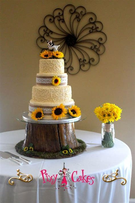 Country Wedding Cakes   AZ unique wedding cakes dandelion