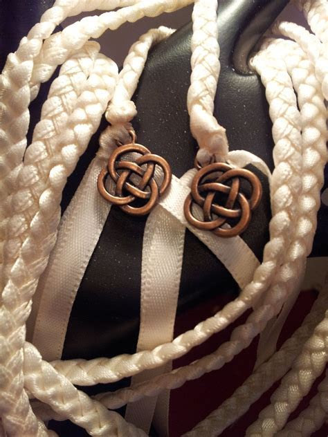 Ivory Celtic Knot Wedding Hand Fasting/ Binding Cord by