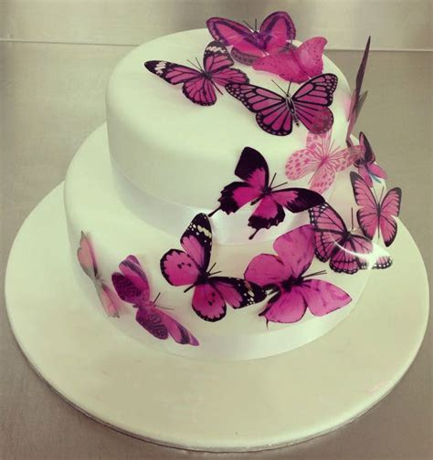 Purple Butterfly Cake   Fondant Cakes in Lahore   Free