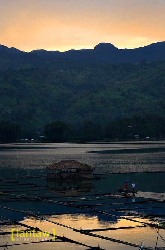 Lake Sebu Dugout Canoe Taxi at Sunset