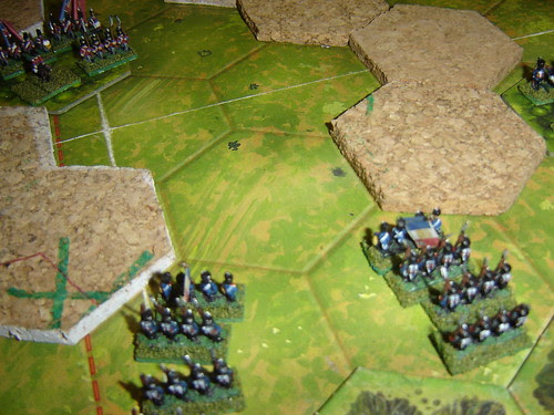 French counter-attack pushes English back down gully