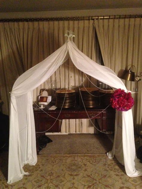 diy draped arch