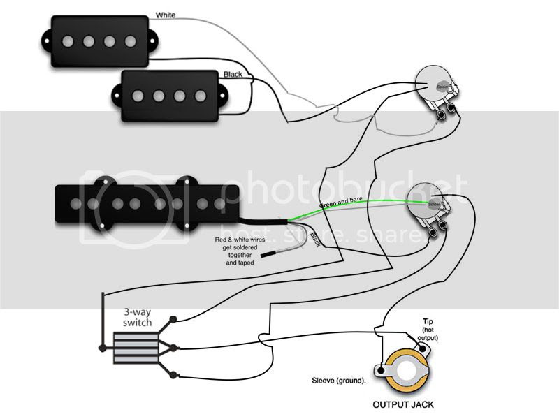 Bass Guitar Wiring Diagram 2 Pickups