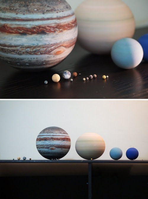 3D Printed Planets and Moons, made to relative or... |